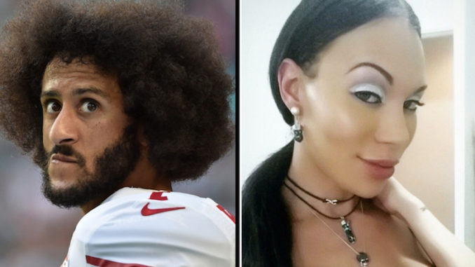 """Colin Kaepernick was once in a romantic relationship with transgender model and porn star Mia Isabella who says the affair was ended in order to """"protect his brand."""""""