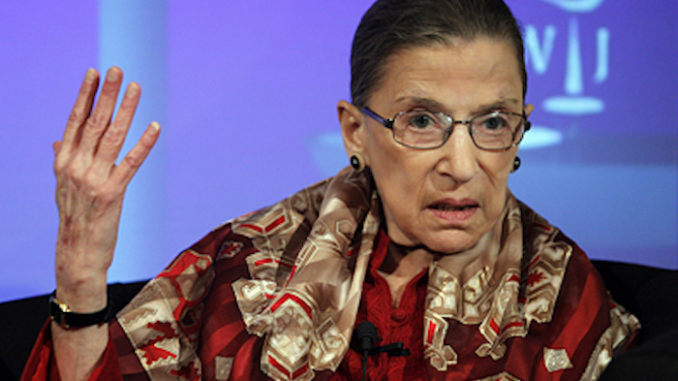 """Supreme Court Justice Ruth Bader Ginsburg has slammed Democrat attempts at obstructing the nomination of Brett Kavanaugh to the Supreme Court, stating that the dirty political tactics employed by Democrats at the Kavanaugh hearings are just plain """"wrong."""""""