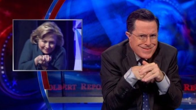 Wikileaks revealed that Stephen Colbert has been making episodes at the request or order of Hillary Clinton and the Clinton Global Initiative.